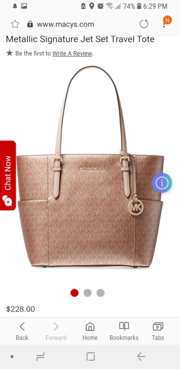 2421927634e1 Used brown Michael Kors leather tote bag for sale in Fontana - letgo