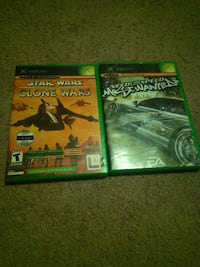 two Xbox Classic game cases