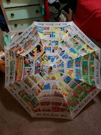 The Sunday Comics Vintage Umbrella