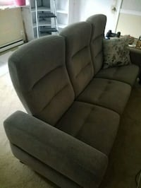 Gray microfiber sofa recliner, matching chair avai Newport News, 23601