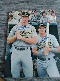 Jose Canseco and Mark McGwire autograph