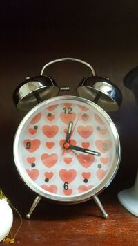 stainless steel and white twin-bell alarm clock Mississauga, L4V 1P3