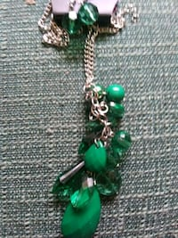 green and silver beaded necklace Alpena, 49707