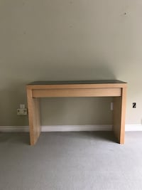 Vanity console table with pull out drawer and glass top Toronto, M6G