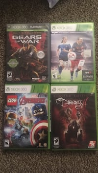 Four xbox 360 game cases Chillicothe, 45601