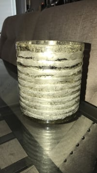 Crate and barrel silver candle holder Greenburgh, 10607