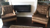 2 Brownish gold accent chairs Hanover, 21076