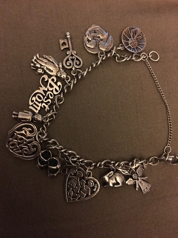 Used James Avery Charm Bracelet 13 Charms Total For Sale