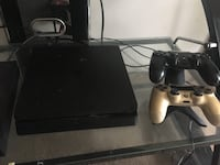 black Sony PS4 console with controller Hampton, 23666
