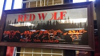 Red Wolf Red Ale Beer Sign  Bakersfield, 93309