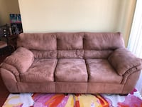brown suede 3-seat sofa Arlington, 22203