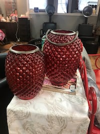 Set 2 red candle lanterns  West Columbia, 29170