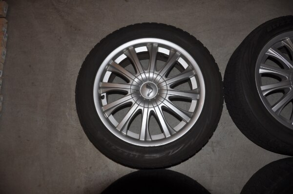 Price Reduced! - Now $250! - 4 Used Wheels with Bridgestone Blizzak Winter Tires WS80 - SIZE: 225/50R17 along with locking lug nuts to use with them 363a9535-fd0e-4221-9842-c306adbc2520