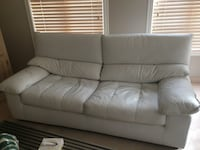 White leather 2-seat sofa Laval, H7K 3N5