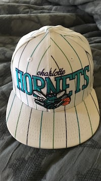 White Charlotte Hornets fitted hat 7-1/2 Pineville, 29707