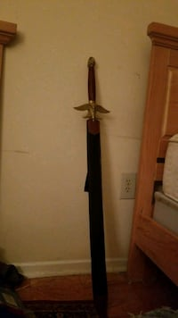 Wood & Plated gold Sword Laurel, 20707