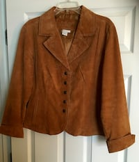 Leather / Suede Jacket by LAL (Live a Little) Snap Front, Size Large Myrtle Beach, 29577