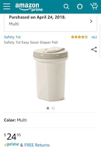 safety first diaper pail  Underwood, 58576