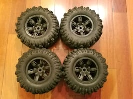 Traxxas XMaxx Factory Wheel & Tire Set