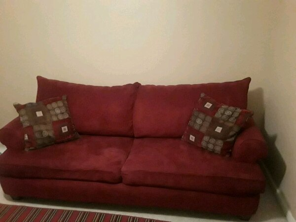 Matching Red Sofa & Chair
