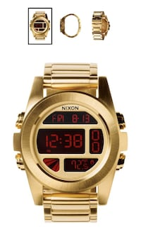 Gold Nixon Digital watch Flint, 48503