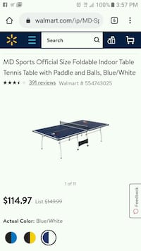 M.D. Sports Ping Pong Table