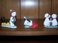 9 coke polar bear cub figurines Staunton
