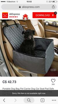 New car dog carrier black and grey  Laval, H7P 5X1