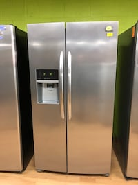 Frigidaire stainless steel side by side refrigerator  47 km