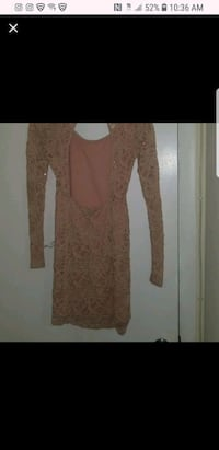 women's pink lace long-sleeved dress Capitol Heights, 20743