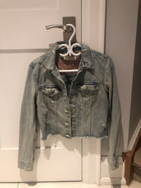 Gray denim button-up jacket Toronto, M2M 1V6