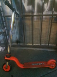 red Scoot kick scooter