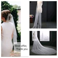 ELEVEN Wedding veil's (0.8m or 2m or 3m or 4m)