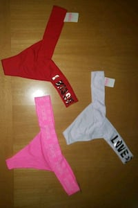 Victoria secret thongs size medium new with tags