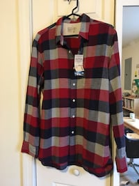 Men's flannel button down shirt