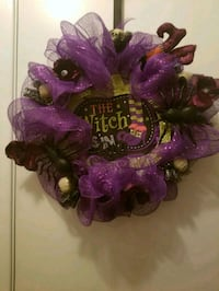 purple and green floral wreath Houston, 77062