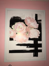 black and white flower painting Warner Robins, 31093