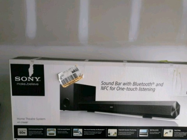 Sony sound bar HT-CT60BT.  60W output