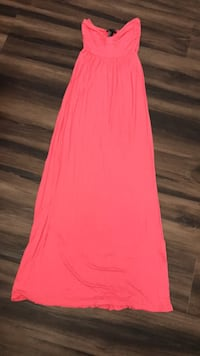 Long maxi strapless dress size small