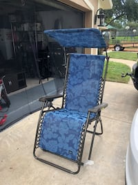Blue and black metal lounge chair Minneola, 34715