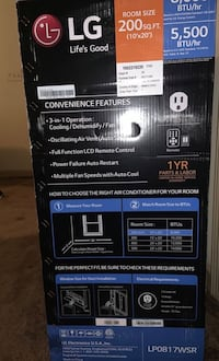 Portable A/C LG with remote and window kit Los Angeles, 90744