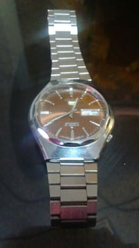 round silver Seiko analog watch with link band Winnipeg, R2W 2C8