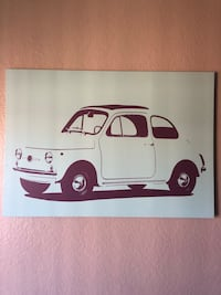 White and black car painting San Diego, 92110