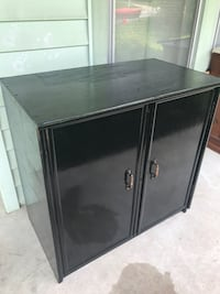 black wooden 2-door cabinet Greensboro, 27405