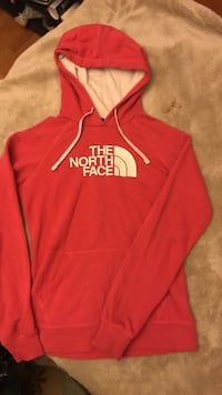 Hot pink small North Face pull-over hoodie