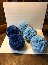 blue and white floral wreath Tracy, 95377