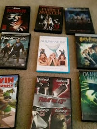 six assorted DVD movie cases Katy, 77450