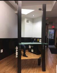 2 sided salon station with drawers and power outle Brampton