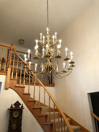 Chandelier entry way
