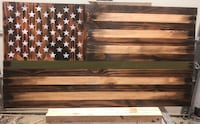 brown and green flag of America wooden signage Stafford, 22554